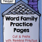 -And Word Family: Word Family Cut, Paste & Read Practice