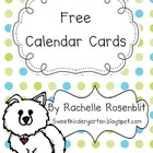 * FREE* Dog Theme Calendar Cards