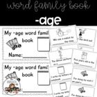 -age word family minibook: cut and paste, word work