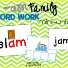 -am Word Family Word Work- A Word Families Mini Unit