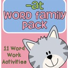 -at Word Family Centers and Activities Pack
