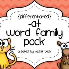 -at Word Family Pack {Differentiated Spelling Activities}