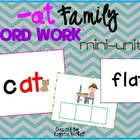 -at Word Family Word Work- A Word Families Mini Unit