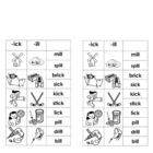 -ick & -ill Word Families (for Word Work or Centers)