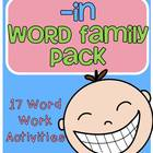 -in Word Family Centers and Activities Pack