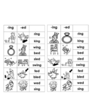 -ing & -ed Word Families (for Word Work or Centers)