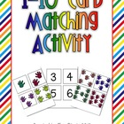 1-10 Card Matching Activity