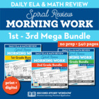Morning Work Bundle Grades 1-3