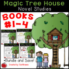 #1-4 Magic Tree House Book  Novel Study Units