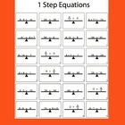 1 Step Equations Worksheet (Black & White)