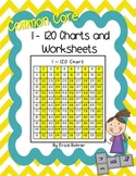 1 to 120 Charts - Common Core Aligned
