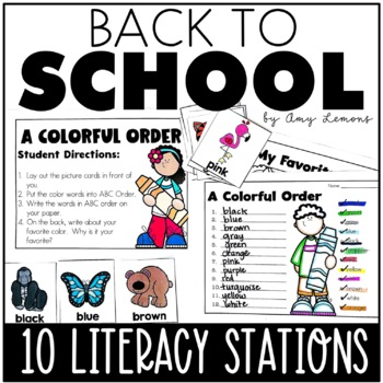 10 Back to School Literacy Centers