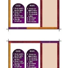 10 Commandments Printable Sunday School Postcards