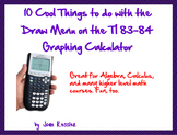 10 Cool Things on the DRAW menu of theTI 83 84 Graphing Ca