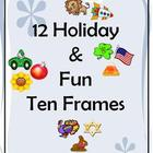 10 Frame Math Manipulatives - Holiday and Fun 12 Pack