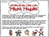 10 More, 10 Less, 1 More, 1 Less Mental Madness!