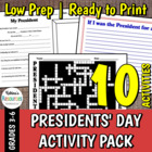 10 Presidents' Day Activities