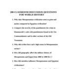 100 Classroom Discussion Questions for World History