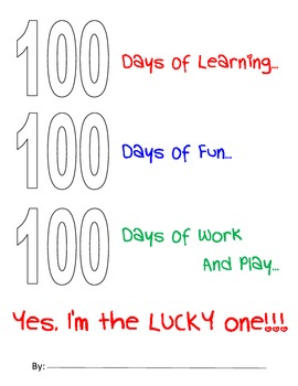 100 Days Of School - Activity Pages
