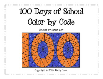 100 Days of School Color by Code