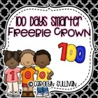 100 Days of School Crown Freebie