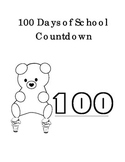 100 Days of School Math Write Number 100 to 1 Ice Cream Be