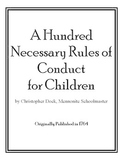100 Rules for Children: First Day of School Reading or Soc
