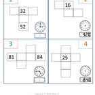 1st Gr & 2nd Gr Math Calendar - hundreds chart puzzles, ti