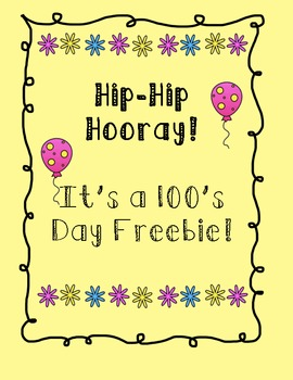 100th Day Freebie
