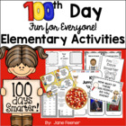 100th Day of School Fun for Everyone!  Elementary Grade Ac