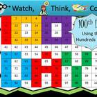 100th Day Hundreds Chart Fun - Watch, Think, Color Game!
