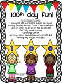100th Day of School {7 Activities/ Worksheets} for First a