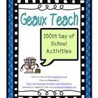 100th Day of School Activities and Learning Games