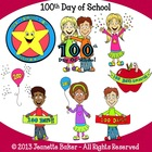 100th Day of School Clip Art by Jeanette Baker (Set #2)