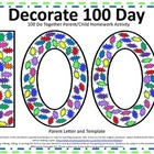 100th Day of School Do Together Parent/Child Homework Activity