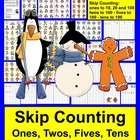100th Day of School Snowman, Penguins, Gingerbread Countin