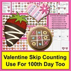 100th Day of School and Valentine's Day Math Centers Count