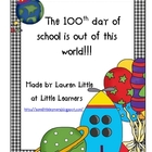 100th day of school- a student reproducible book