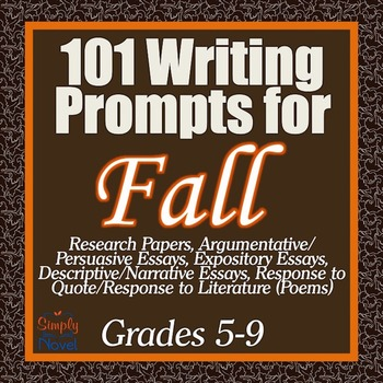 101 Writing Prompts for Fall