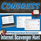 113th Congressional Leaders Scavenger Hunt Webquest (Civics)