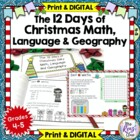 12 Days of Christmas Math, Language & Geography: Daily Rev