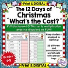 12 Days of Christmas – What's the Cost of those Gifts? Mat