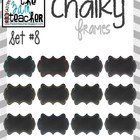 12 Fun Chalky Frames Clip Art - Set 8
