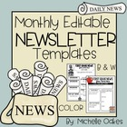 12 Monthy-Editable Newsletters Templates (Black and White)