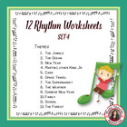 RHYTHM: 12 RHYTHM Worksheets SET 4