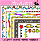 Borders - School Theme Frames / Borders Clip Art - Persona