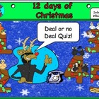 12 days of Christmas (Deal or no deal)