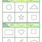 12 x 2D Shape Bingo Games - 12 pages