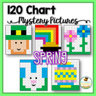 Spring Activities - 120 Chart Mystery Pictures - St. Patri