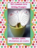 120 common core writing prompts cards (bundled set)!